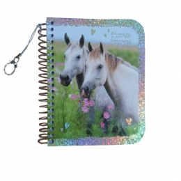Carnet Scintillant Chevaux Blancs Horses Dreams