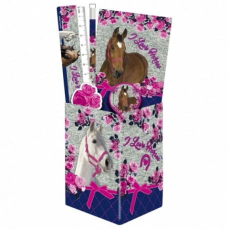 Pot à Crayons Garnit Cheval I Love Horses