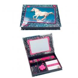Horses Dreams: Coffret D'écriture Bleu Cheval