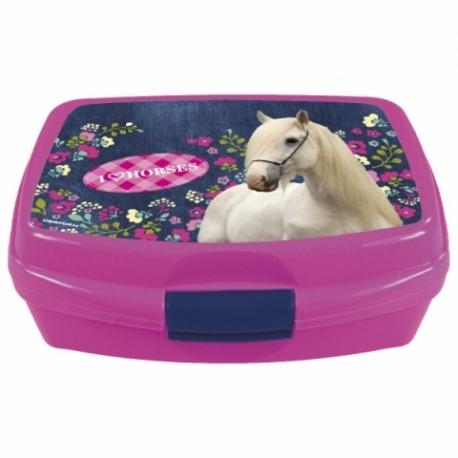 Boîte à Goûter Cheval I Love Horses