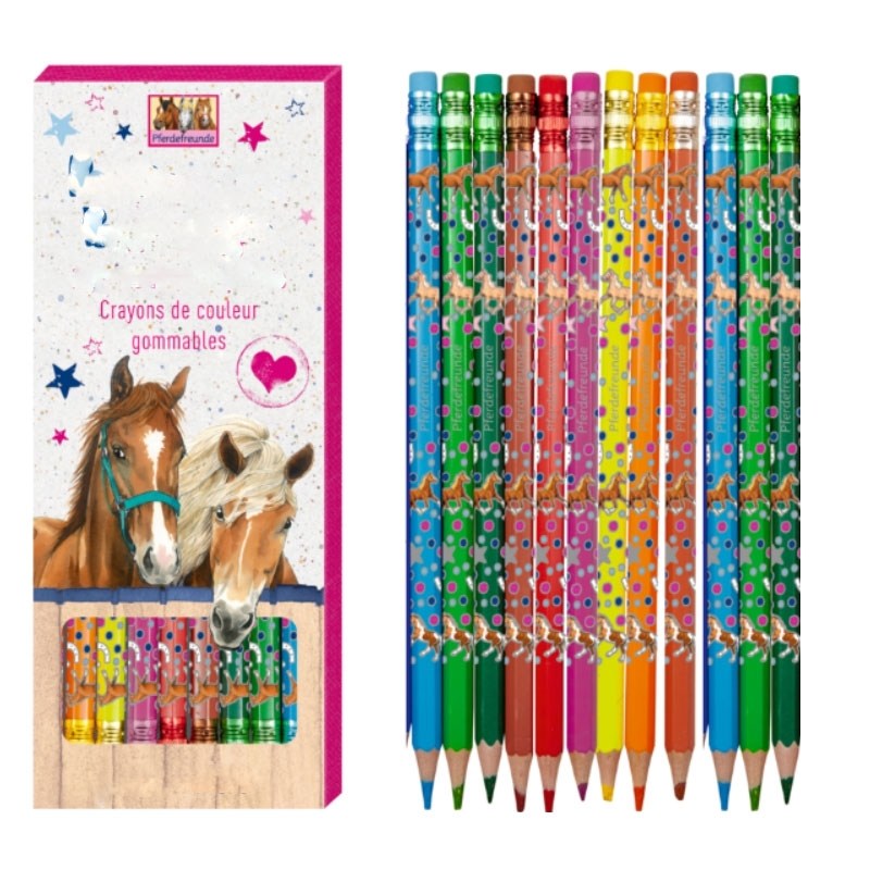 Crayons De couleur Gommables Cheval