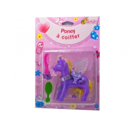 Poney à coiffer violet