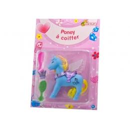 Poney à coiffer bleu