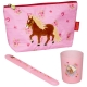 Trousse De Toilette Garnie Cheval Rose