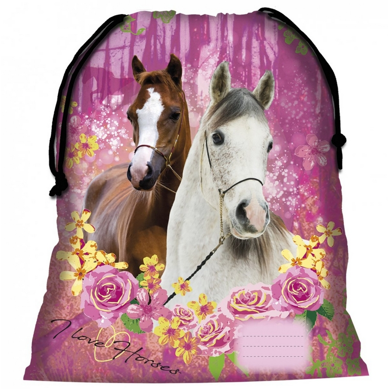 Sac De Sport Fille Cheval Rose