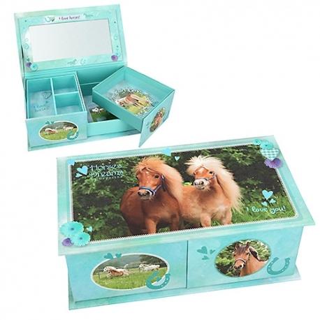 Boîte à Bijoux Turquoise Horses Dreams