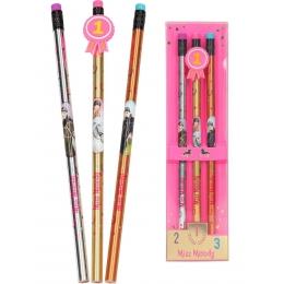 Coffret 3 Crayons HB Cheval Miss Mélody