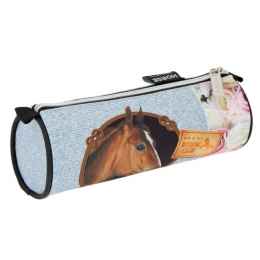 Trousse Ronde Cheval Marron