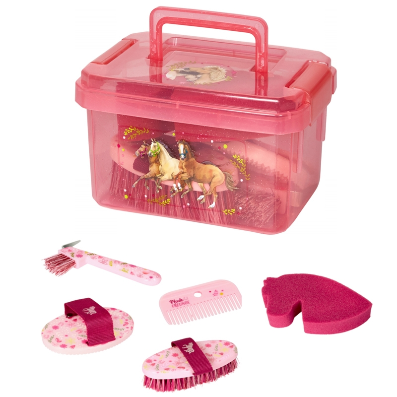 Set De Pansage Cheval Rose