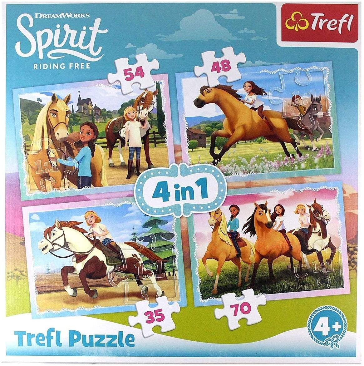 Puzzle Chevaux Spirit 4 en 1