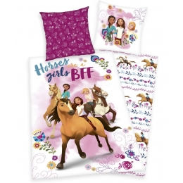 Parure De Couette Réversible Spirit Horses Girl