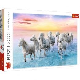 Puzzle chevaux Dans La Mer 500 pièces