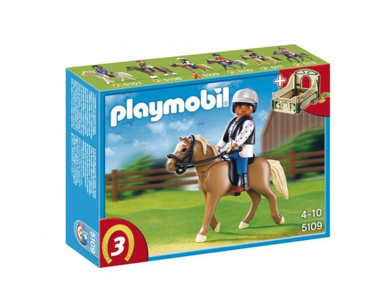 Playmobil - Cheval Haflinger et Ecuyère
