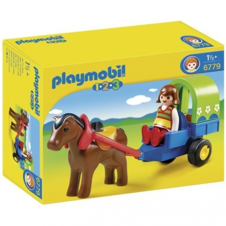 Playmobil 1er Age : Chariot avec Poney