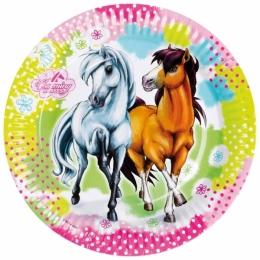 Assiettes Anniversaire Cheval Charming Horses